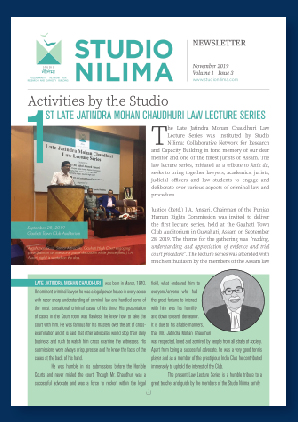 Studio Nilima Newsletter - November 2019