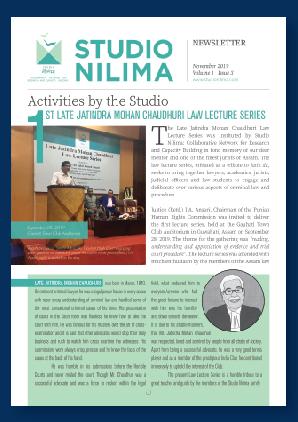 Studio Nilima Newsletter - November 2019