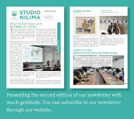 Studio Nilima Newsletter - September 2019